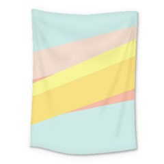 Pink Green Yellow Line Flag Medium Tapestry