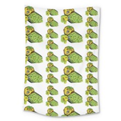Parrot Bird Green Animals Large Tapestry
