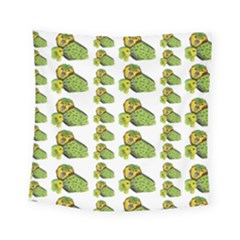 Parrot Bird Green Animals Square Tapestry (small)