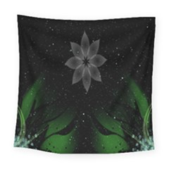 Night Sky Flower Square Tapestry (large)