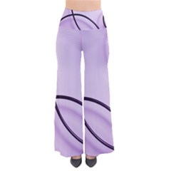 Purple Background With Ornate Metal Criss Crossing Lines Pants