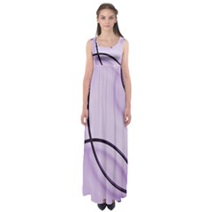 Purple Background With Ornate Metal Criss Crossing Lines Empire Waist Maxi Dress