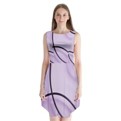 Purple Background With Ornate Metal Criss Crossing Lines Sleeveless Chiffon Dress