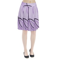 Purple Background With Ornate Metal Criss Crossing Lines Pleated Skirt