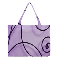 Purple Background With Ornate Metal Criss Crossing Lines Medium Tote Bag