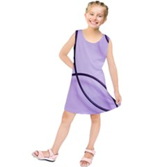 Purple Background With Ornate Metal Criss Crossing Lines Kids  Tunic Dress