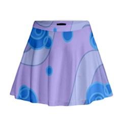 Purple Wave Mini Flare Skirt