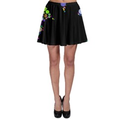Prismatic Negative Space Comic Peace Hand Circles Skater Skirt