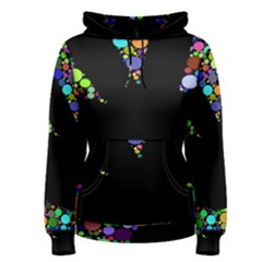 Prismatic Negative Space Comic Peace Hand Circles Women s Pullover Hoodie