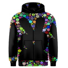 Prismatic Negative Space Comic Peace Hand Circles Men s Zipper Hoodie