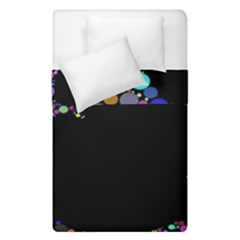Prismatic Negative Space Comic Peace Hand Circles Duvet Cover Double Side (Single Size)