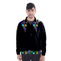 Prismatic Negative Space Comic Peace Hand Circles Wind Breaker (Men)