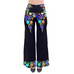 Prismatic Negative Space Comic Peace Hand Circles Pants