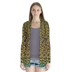 Peacock Bird Feather Color Cardigans