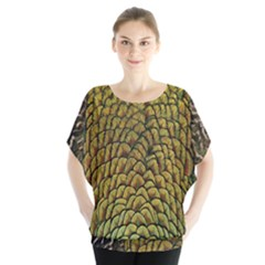 Peacock Bird Feather Color Blouse