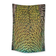 Peacock Bird Feather Color Small Tapestry