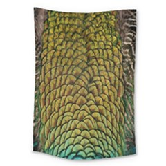 Peacock Bird Feather Color Large Tapestry
