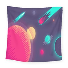 Roket Planet Square Tapestry (large)