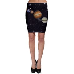 Outer Space Planets Solar System Bodycon Skirt