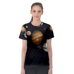 Outer Space Planets Solar System Women s Sport Mesh Tee