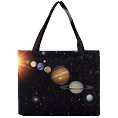 Outer Space Planets Solar System Mini Tote Bag