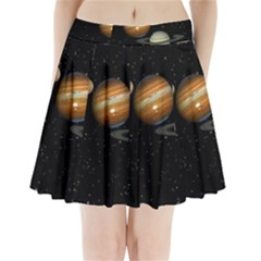 Outer Space Planets Solar System Pleated Mini Skirt