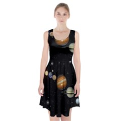 Outer Space Planets Solar System Racerback Midi Dress