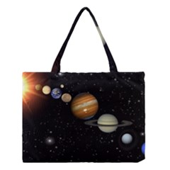 Outer Space Planets Solar System Medium Tote Bag