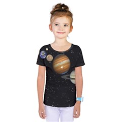Outer Space Planets Solar System Kids  One Piece Tee