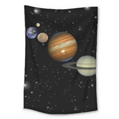 Outer Space Planets Solar System Large Tapestry