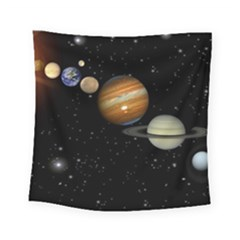 Outer Space Planets Solar System Square Tapestry (Small)