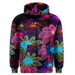 Nice 3d Flower Men s Zipper Hoodie