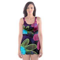Nice 3d Flower Skater Dress Swimsuit