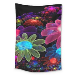 Nice 3d Flower Large Tapestry