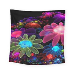 Nice 3d Flower Square Tapestry (Small)