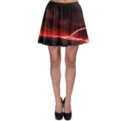 Outer Space Red Stars Star Skater Skirt