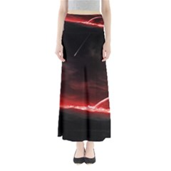 Outer Space Red Stars Star Maxi Skirts