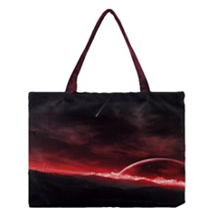 Outer Space Red Stars Star Medium Tote Bag