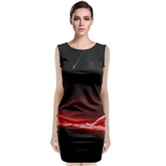 Outer Space Red Stars Star Sleeveless Velvet Midi Dress