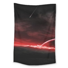 Outer Space Red Stars Star Large Tapestry
