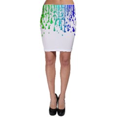 Paint Drops Artistic Bodycon Skirt