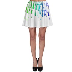 Paint Drops Artistic Skater Skirt