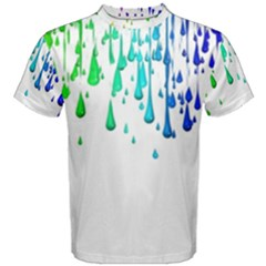 Paint Drops Artistic Men s Cotton Tee