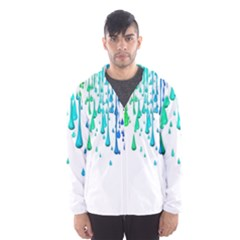 Paint Drops Artistic Hooded Wind Breaker (men)