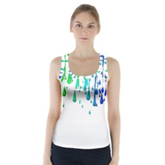 Paint Drops Artistic Racer Back Sports Top