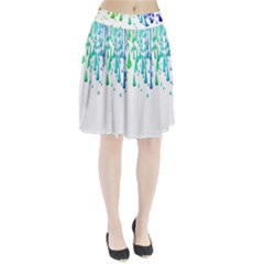 Paint Drops Artistic Pleated Skirt