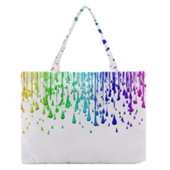 Paint Drops Artistic Medium Zipper Tote Bag