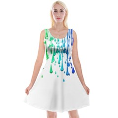 Paint Drops Artistic Reversible Velvet Sleeveless Dress