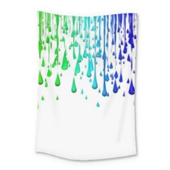 Paint Drops Artistic Small Tapestry