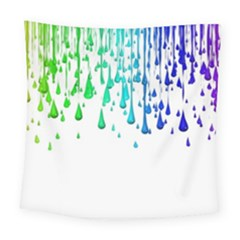 Paint Drops Artistic Square Tapestry (Large)